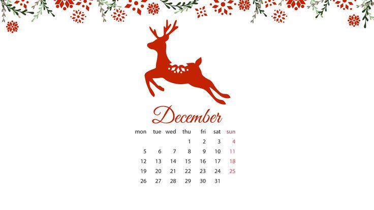 Free December Desktop Wallpaper – DayDreaming Art