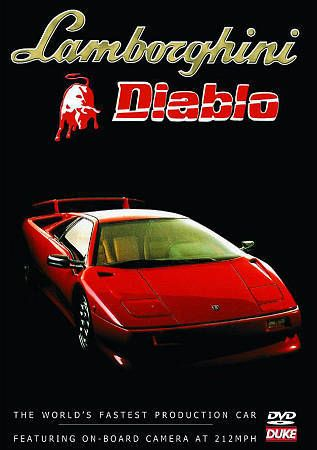 Lamborghini Diablo DVD. 50 Mins. Exotic Italian Supercar. DUKE Video 3029NV