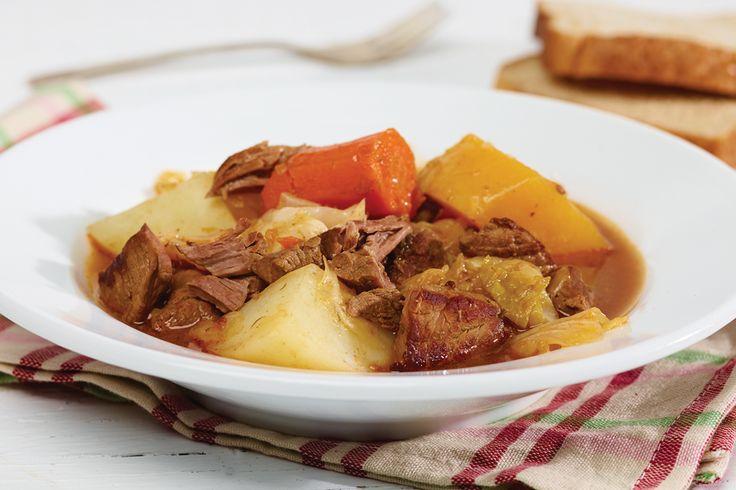 Fondation OLO | Recette | Bouilli canadien de bœuf au chou et aux légumes racines