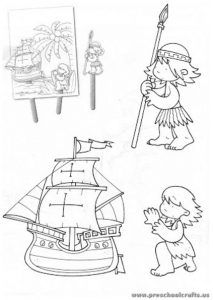 christopher columbus day coloring pages for kindergarten - Christopher Columbus Coloring Page