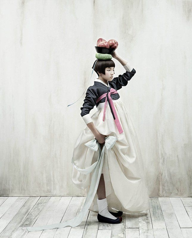 Hanbok - Korean Traditional Costume | Photo by Kim Kyung Soo for Vogue Korea