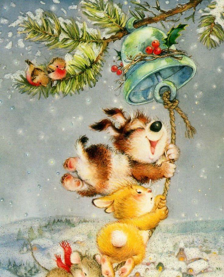 Все новогодние рисунки открытки картинки