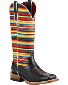 Ariat Gringa Raven Cowgirl Boots - Square Toe, Black