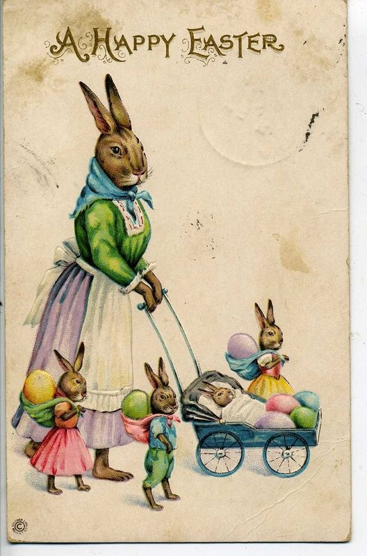 A happy Easter postcard Ostern Rahmen