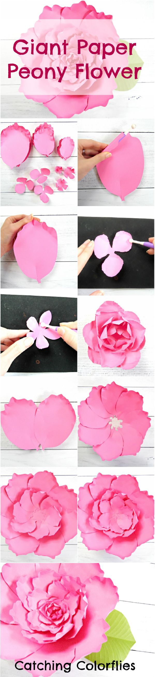 Giant Paper Flower Peony How To Make Large Paper Peony Flowers Printable  Flower Templates