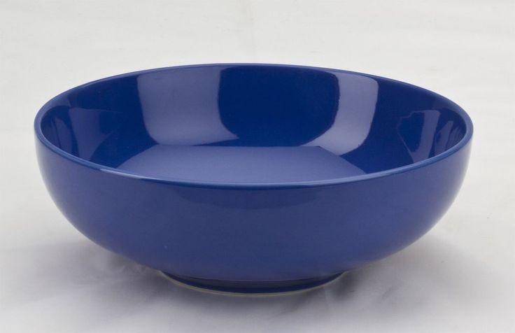 """Stoneware Round Pasta Bowls set of 4 by Omni Houseware 7.75"""" Cobalt Blue #OmniHouseware"""