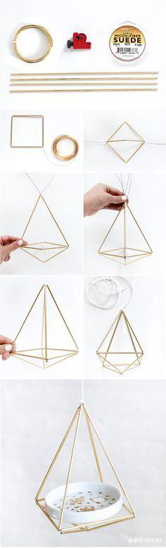 DIY Brass Himmeli Hanger Step-by-Step Tutorial