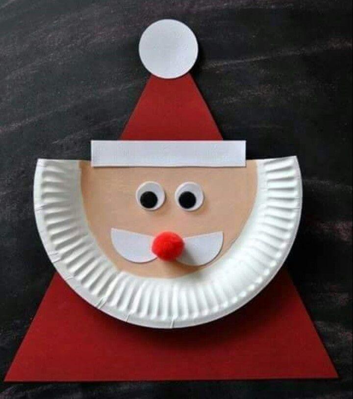 Babbo Natale con piatto di carta