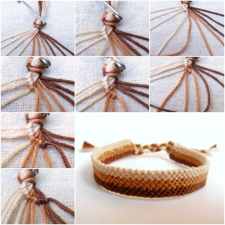 How To Make Easy Weave Bracelet step by step DIY tutorial instructions