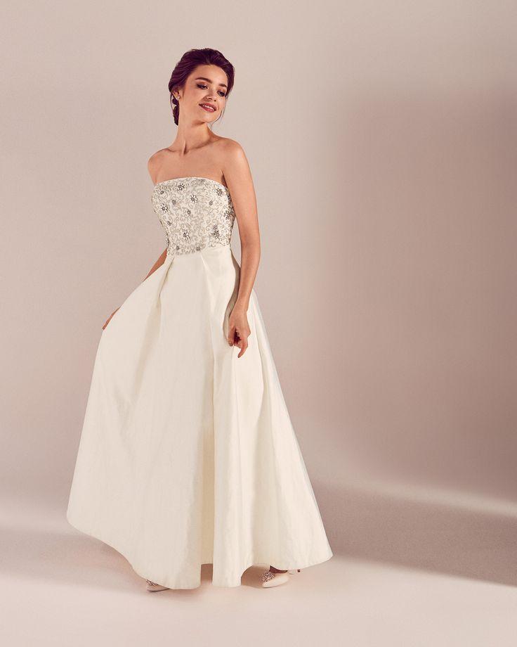 #WedWithTed @TedBaker #Contest Embellished bodice maxi dress - White | Dresses | Ted Baker