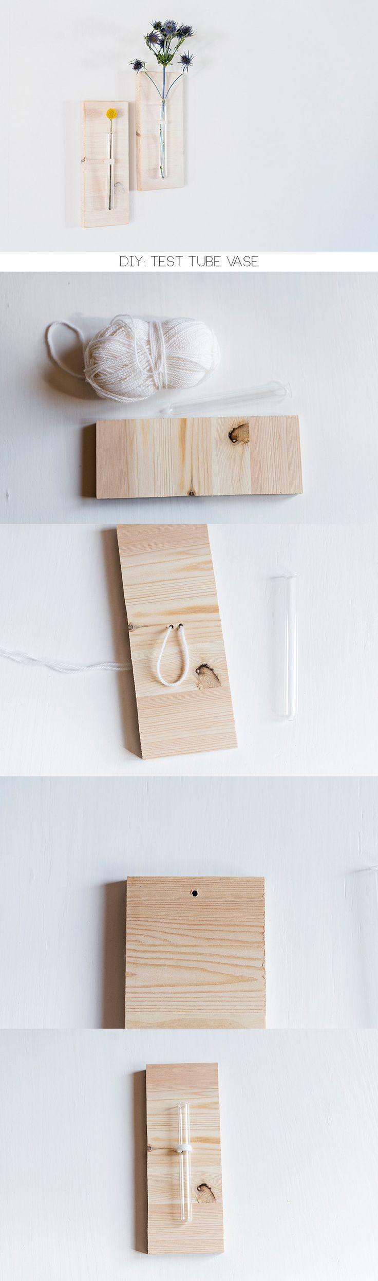 diy test tube vase wall hanging