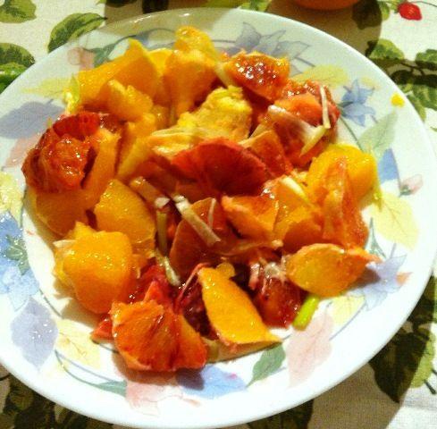 salad of red orange