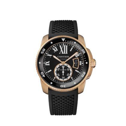 $28,100 Calibre de Cartier Diver watch - 42mm, pink gold - Fine Timepieces for men - Cartier