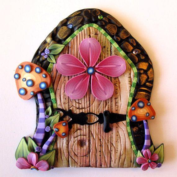 Toadstool Fairy Door Pixie Portal Kids Room Decor via Etsy
