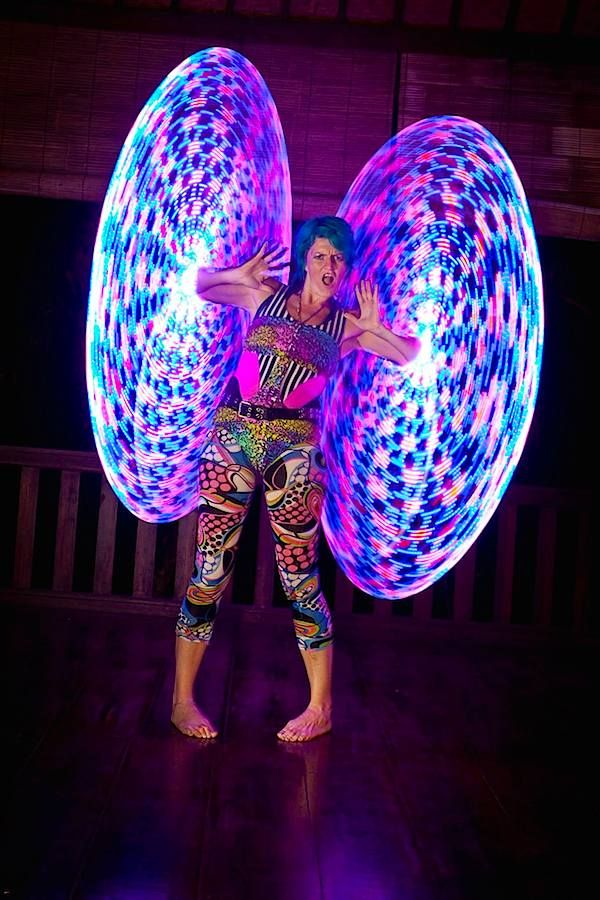 LED Hooping with Emma Kenna: http://www.hooping.org/2014/05/led-hooping-with-emma-kenna/