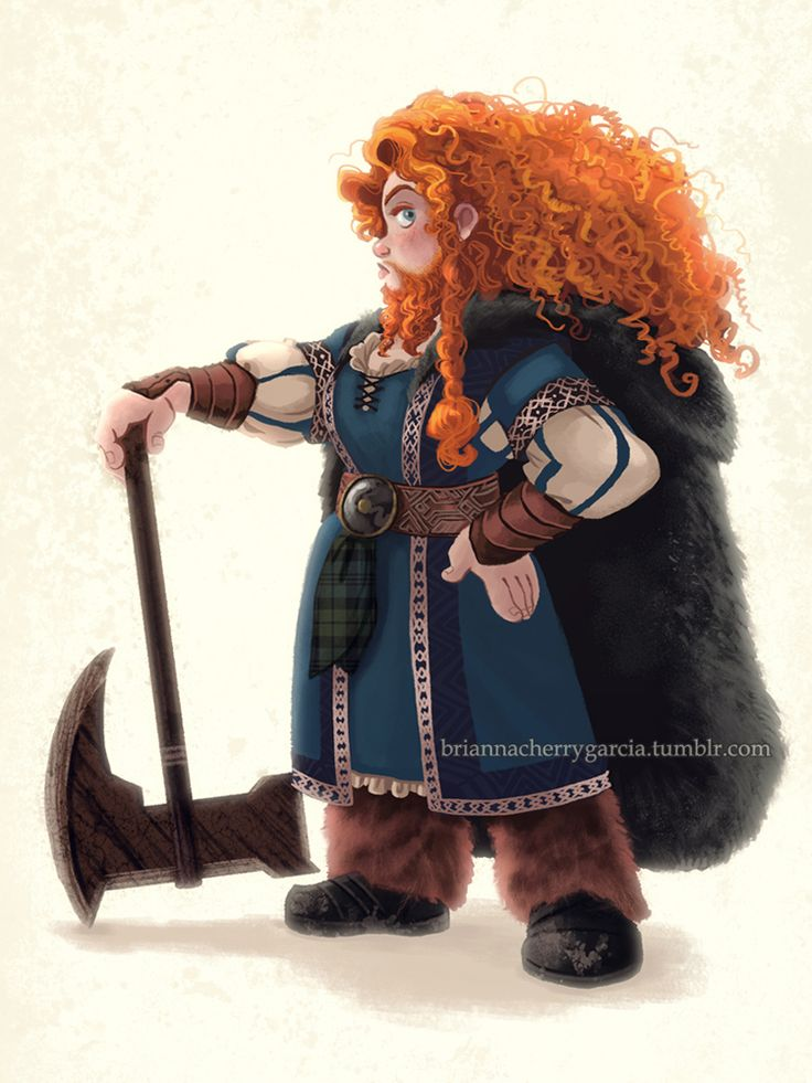 "briannacherrygarcia: "" I finally saw Battle of the Five Armies, and casting Billy Connolly as the voice of Dain was a brilliant move. It made me think of King Fergus, which made me think of Merida as..."
