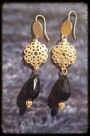 Ohrringe Drop noir auf www.jayjaydesign.de/Shop/Ohrringe