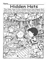 Hidden Pictures Printables - Find the Hidden Objects Picture Puzzles - Find the Objects - Theme