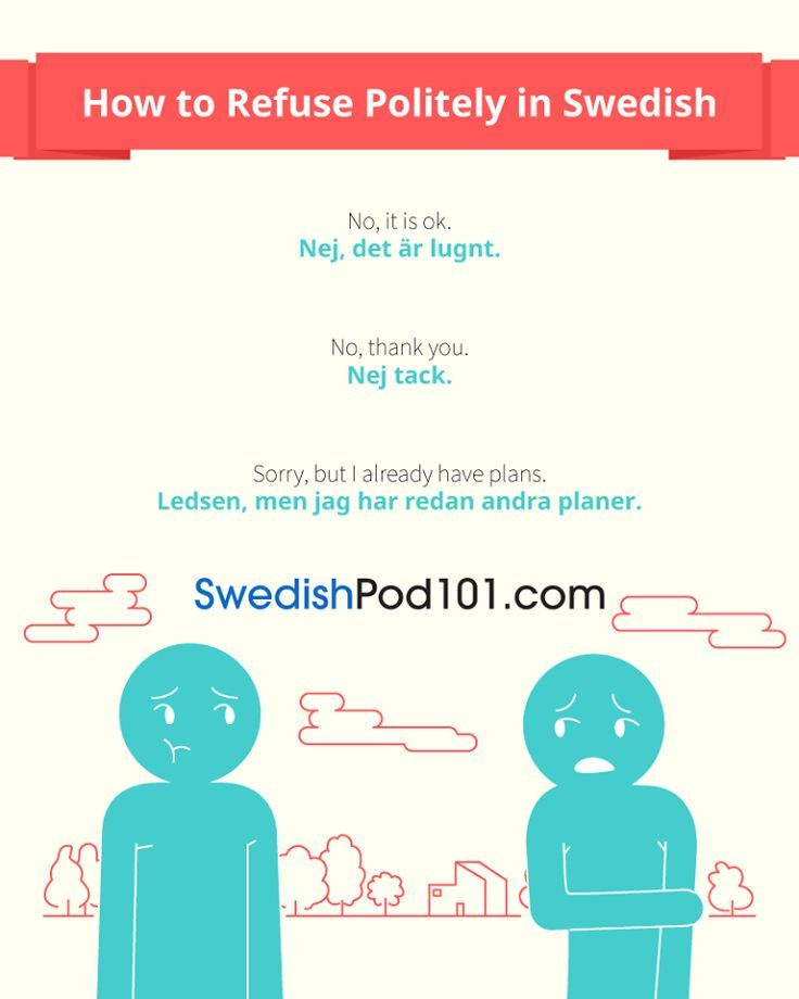 Refusing Politely In Swedish Learn Swedish Learn Swedish Online Swedish Language