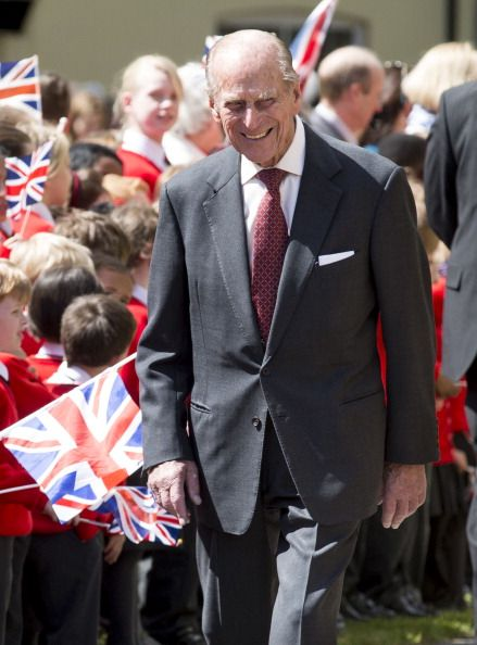 queensofias:  Duke of Edinburgh accompanied accompanied Queen Elizabeth on a visit to Felsted School, Felsted, England, May 6, 2014
