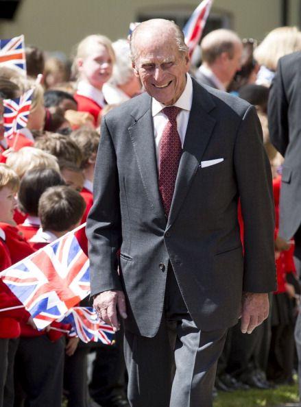 queensofias:  Duke of Edinburgh accompanied accompanied Queen Elizabeth on a visit to Felsted School, Felsted, England, May 6, 2014