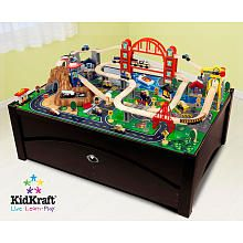 Our Kidkraft Metropolis Train Table and Set is compatible with Thomas u0026 Friends and Brio wooden train sets. The Kidkraft Metropolis Train Table and Set ...  sc 1 st  Pinterest & 73 best Wooden Train stuff we want images on Pinterest | Wooden ...