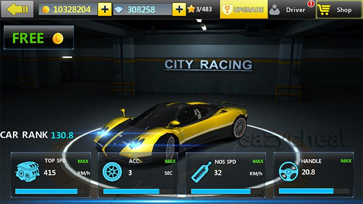 City Racing 3D Cheats - Unlimited Gold, Unlimited Diamond, VIP 5, All Cars Owned and Fully Upgraded http://www.eazycheat.com/2015/01/city-racing-3d-cheats.html