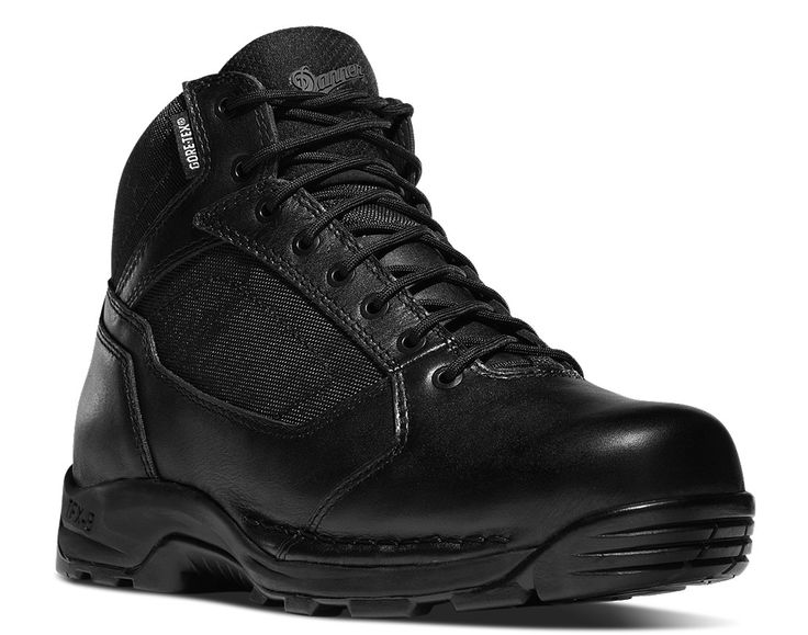 """Danner Striker Torrent 45 4.5"""" Black: Danner offers boots with steel-toe, composite toe and a soft plain toe, which offer safety and comfort. Whether you are looking for work boots, military boots, police boots, or hiking boots and hunting boots, Danner has what you are looking for!"""