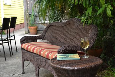 A great spot for a good book and a glass of wine