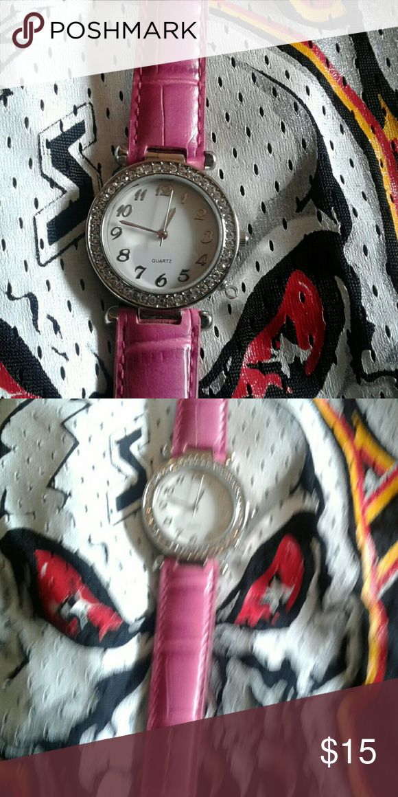 Nice pink watch Big faced watch Kohls  Jewelry