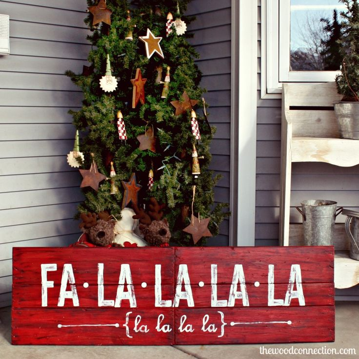 Fa La La La La Christmas Sign | The Wood Connection Blog
