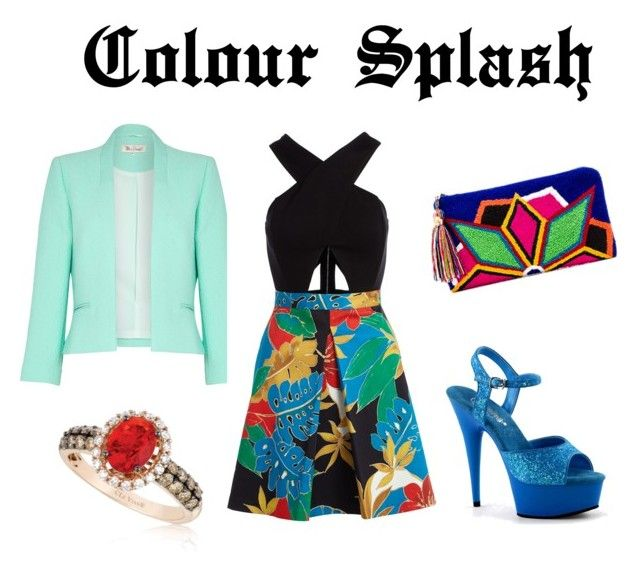 """""""Colour Splash"""" by saramichael on Polyvore featuring Damsel in a Dress, Alice + Olivia, The Way U and LE VIAN"""