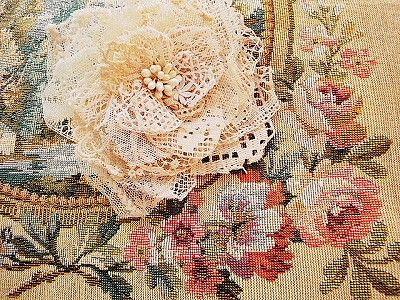 Кружева корсаж брошь - английские и французские антиквариат | розы и ангел античной | Eglantyne (Egurantinu)