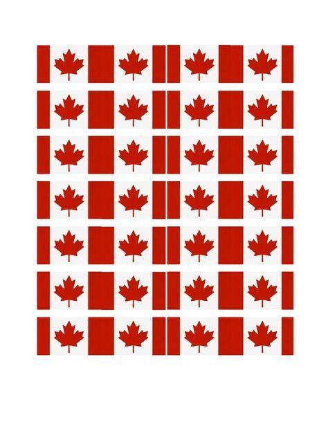 FREE Printable Canada Cupcake Flags