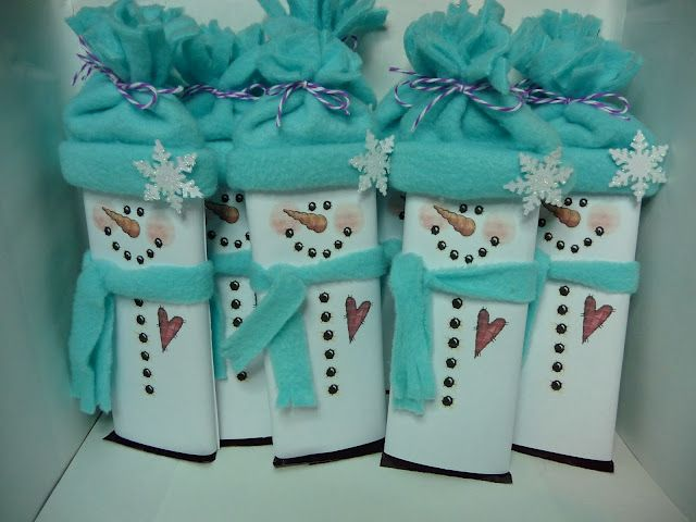"Snowman Candybar - ""There's ""snow"" better coworker than you! Merry Christmas!"""