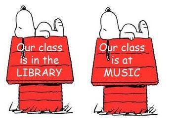 Snoopy Classroom Building location signs