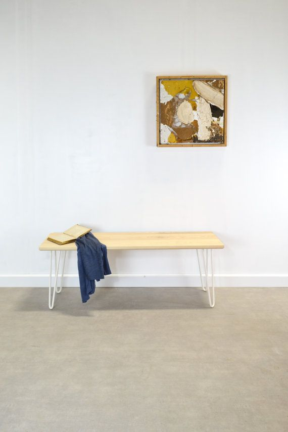 Solid Ash Hairpin Leg dining or hall Bench