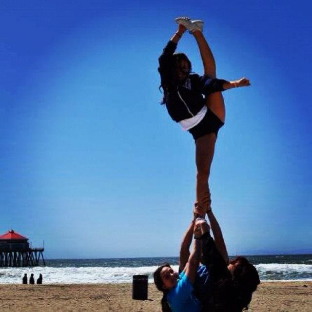 Stunt. Cheer leading. Bow and arrow. | Kenna | Pinterest ...