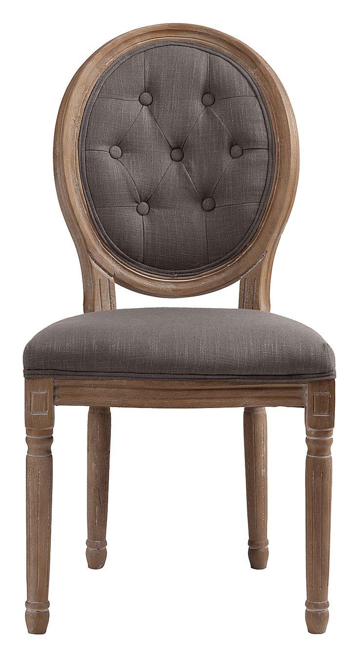 """""""Стул Maurice — модель без подлокотников, в классическом стиле, предназначена для столовой или кабинета. Стул на деревянном каркасе с округлой спинкой. Возможны различные варианты отделки и обивки. Купите стулья Maurice для всей семьи — они непременно понравятся всем.""""             Метки: Кухонные стулья.              Материал: Ткань, Дерево.              Бренд: DG Home.              Стили: Классика и неоклассика.              Цвета: Серый."""