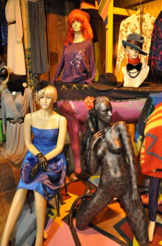 use of mannequin in camden lock, London 2009 - Visual Merchandising