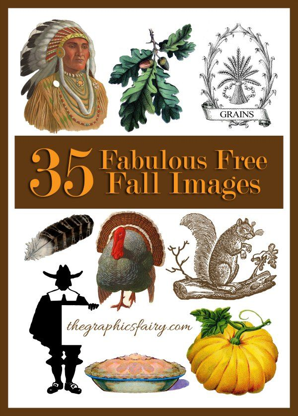35 Fabulous Fall Images. Free for your DIY and Craft projects! Check it out!! #Fall #Printables