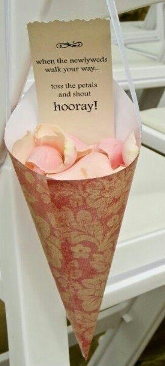 Wedding idea, flower petals :)