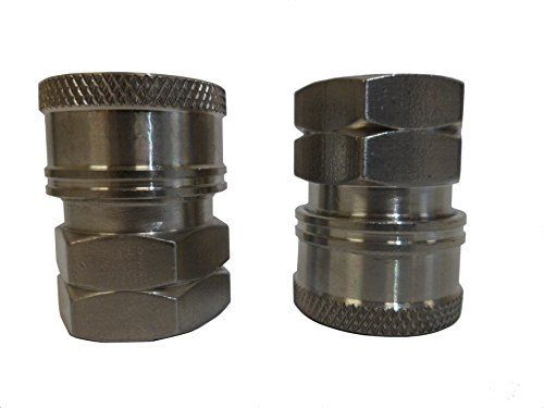 Product review for Ultimate Washer UW16-PA71DF Female Coupler, 3/8-Inch, Stainless Steel, 2-Pack. Help keep your outdoor power equipment running at peak performance by ordering the Ultimate Washer UW16-PA71DF Stainless Steel Female Coupler. These quick fittings connect to all of the most common pressure washer equipment in the industry.  Compatible with gas and certain electric pressure...