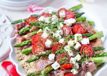 Sparris- och prosciuttosallad med quinoa   MåBra - Nyttiga recept