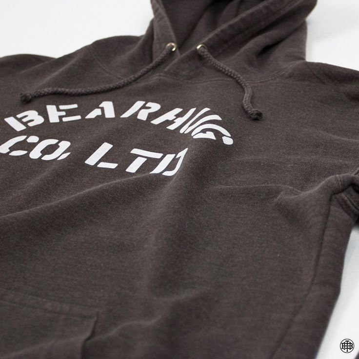 The Bearhug Co - Washed Stencil Logo Hoodie - Great for the cooler summer evenings.