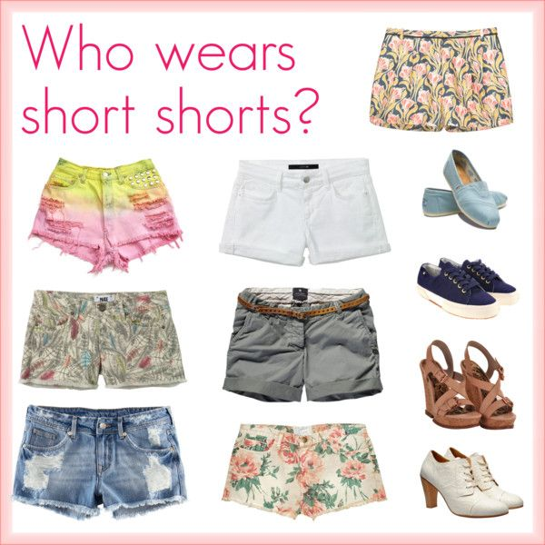 short shorts, created by ashlips33 on Polyvore
