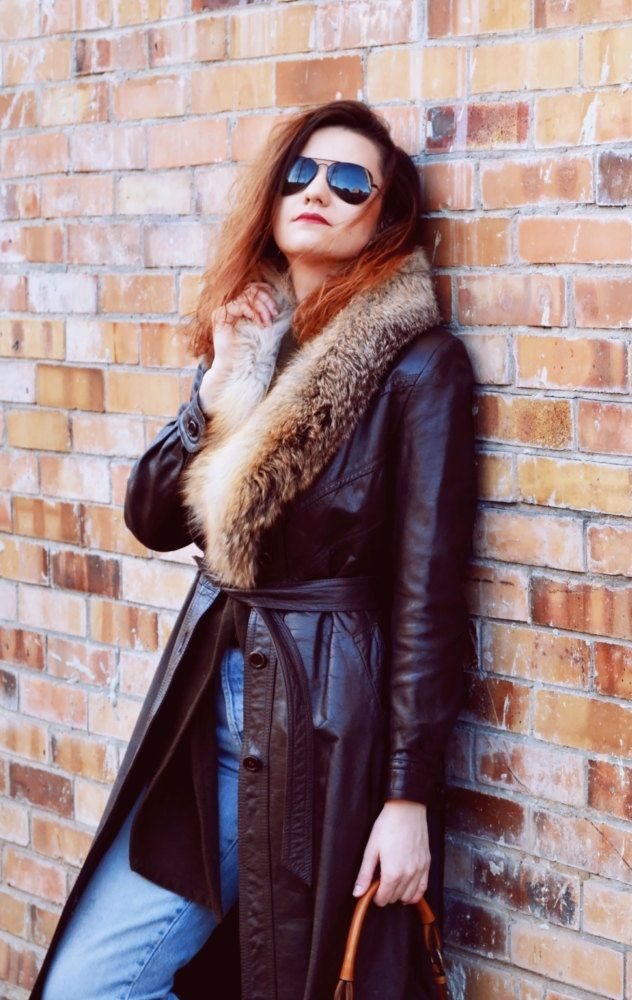 leather coats for women brown, rocker style fashion outfit ideas US$84.95