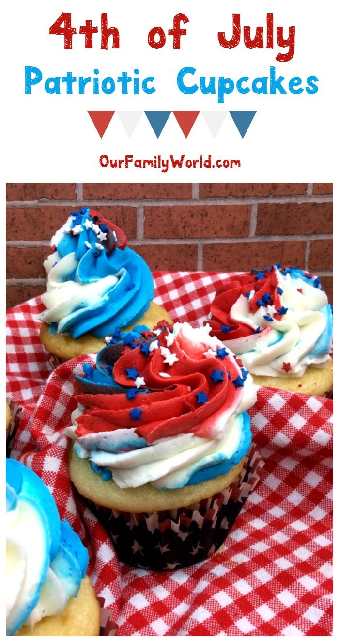 Patriotic Cupcakes Recipe: Red White and Blue Never Looked So Tasty!