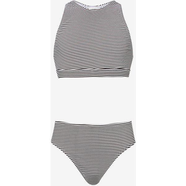 Seersucker Bikini ($32) ❤ liked on Polyvore featuring swimwear, bikinis, bikini two piece, sporty bikini swimwear, racerback swimwear, racerback bikinis and racerback bikini swimwear