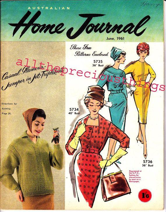 3 Vintage Dress Patterns in Australian by allthepreciousthings, $26.00